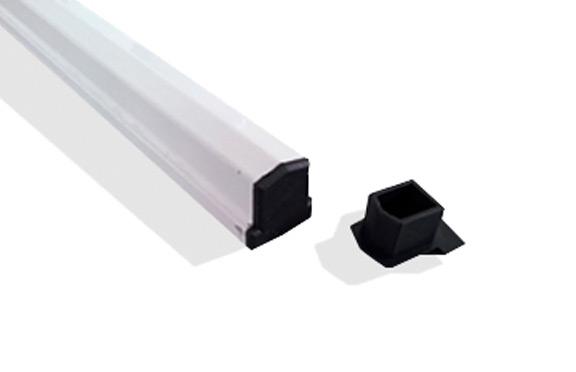 tampa perfil de aluminio